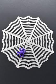 Halloween DIY: Paper Spider Webs